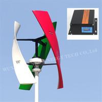 Asse verticale VAWT Energia residenziale con controllore di caricatore MPPT 300W 600W 12V Spirale Generatore turbina eolica a spirale And12V 24V MPPT