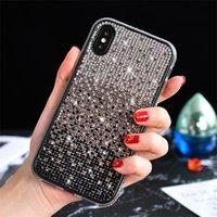 Di lusso di pendenza diamante di caso per iPhone Pro 11 Max scintillio di Bling della copertura del telefono per l'iphone xs xr 8 7 più