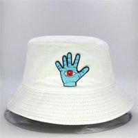 LDSLYJR Pamuk Palm Nakış Kova Şapka Balıkçı Şapka Açık Seyahat Şapka Erkekler ve Kadınlar için Sun Cap Şapkalar 51