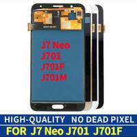 100% Test Samsung Galaxy J7 için Test Panelleri NEO LCD Ekran J701F J701M SM-J701F Dokunmatik Ekran Digitizer Komple Montaj Değiştirme