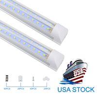 Lámparas LED de 8 pies LED, 8 pies LED LIGHT 6000K FRÍA BLANCO FRÍO T8 Forma V integrada Lámparas de tubo LED de 8 pies, Cubierta clara