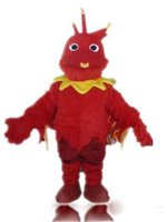 2018 High quality hot bird costumes an adult red phoenix mas...