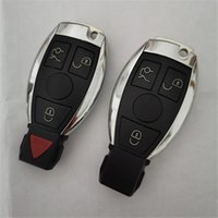 Keyless Car Smart Key Card Shell с Вставьте Uncut Клинок 3 3 + 1 Кнопка Fob крышка Крышка для держателя Mercedes Benz 2 батареи