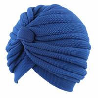 Abbigliamento etnico Panno elasticizzato Donne Hijab Cappello Lady Accessori per capelli Cappuccio musulmano Cappuccio Turban India Hijabs Caps Semplice