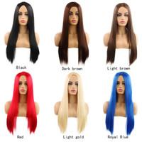 WIG WIG WIG WUNDES Mode rasieren sich lange gerade Haare in der Mitte des Herstellers