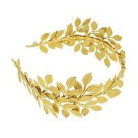 1pc Donne Donne Golden Bridal Fascia Vintage Wedding Baroque Elegante foglia di oliva Capelli Band Headdress Accessori da sposa