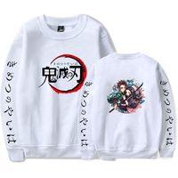 Anime Demon Slayer Kimetsu Yok Yaiba Crewneck Sweatshirt Kadın Erkek Harajuku Casual Uzun Kollu Kazaklar Komik Hoodie Streetwear