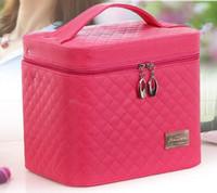 패션 여성의 메이크업 상자 가방 케이스 레이디 패턴 휴대용 만화 메이크업 케이스 가죽 뷰티 케이스 트렁크 휴대용 Coametic 가방