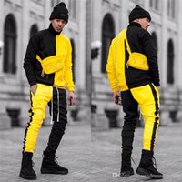 Spring Autumn Mens Designer Tracksuits Fashion Hip Hop Contr...