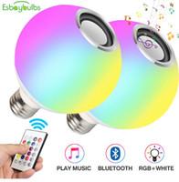 ضوء مصباح LED تغيير لون RGB مصباح RGB بقيادة مصباح أضواء الموسيقى عن بعد الموسيقى الخفيفة تحكم LED لمبات سحر الضوء الذكية