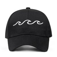 2019 New design dad hats women men sea wave baseball cap hig...