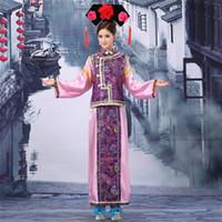 3 pezzi Hat + Scarf + Costume Plus Size antica dinastia Qing Costume Cinese Tradizionale Manciù principessa Dress con il cappello di trasporto
