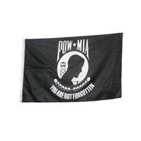 Pow Mia Flagge 150x90cm 3x5ft Druck Polyester Verein Sport Indoor Outdoor mit 2 Messing-Ösen, freier ShippingChilean Flagge