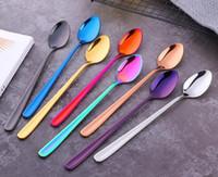 304 нержавеющая сталь мороженое совок вакуумный Титан покрытием красочные мороженое совок длинная ручка смешивания ложка
