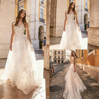 Gali Karten 2019 Beach Wedding Dresses Jewel Lace Backless S...