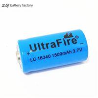 CR123 / UltraFire 16340 1500mAh 3.7V Batteria ricaricabile agli ioni di trasporto
