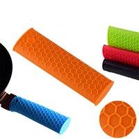 Hot silicone supporto della maniglia Potholder gomma Pot maniglia manica calore resistente al calore Resistente Stoviglie Parts JK2006