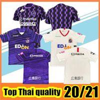 Novo 20/21 J. League Sanfrecce Hiroshima Futebol Jerseys 2020 2021 Roxo Branco Casa longe # 12 Playey Soccer Shirt Fora Futebol Uniforme Venda