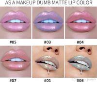 HANDAIYAN 6 색 글로우 반짝이 쉬머 인어 립글로스 립 색조 보습 방수 금속 오래 지속되는 액체 립글로스 립밤