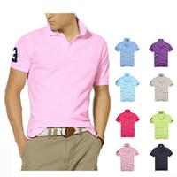 Sommer-Qualitätsbaumwollshirtpolo Männer ralph mens T-Shirt Geschäft Mensentwerfer Polohemd bestickte Revers-Polohemd Freies Verschiffen