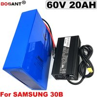 Batería de litio de bicicleta eléctrica 36V 48V 60V 72V 20AH Batería de bicicleta eléctrica para celular Samsung 30B 18650 original para motor 1000W 1500W