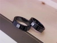 B designer ring jewelry Love Black Ceramic rings 925 Silver ...