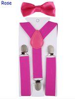 Bretelle di 10PCS 12 colori modificabili Clips Y-Shape Bretelle per bambini con farfallino Set per i bambini