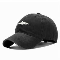 2020 جديد سمك القرش قبعة البيسبول غسلها القرش التطريز بلغت ذروتها كاب البرية العصرية الرجال والنساء حماية الشمس قبعة
