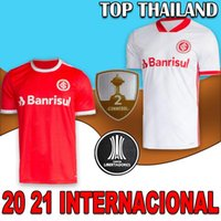 New International 2020 2021 SC International Accueil Maillots de football loin 20 21 t-shirts Bruno Silva N. Lopez GUERRERO football chemises rouge kit