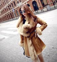 Cappotto di pelliccia 2018 Inverno Alta Moda Donna Lussuosa Faux Cappotto di pelliccia Slim Fit Suede in ecopelle Capispalla lunga Capispalla Parka Top Qualit
