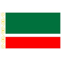 Republik Tschetschenien-Flagge Russland-Staats-Flagge 150x90cm 100D Polyester 3x5FT Messingösen individuelle Flagge, freies Verschiffen
