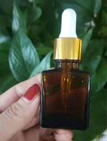 Vape 15 ml e cig / e vloeistoffen / e sap / olie / oog druppelaar / rook olie / sigaret vloeibare amber heldere glazen druppelaar flessen met dripper cap