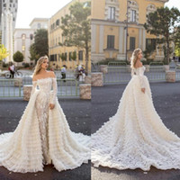 2020 Chic Mermaid Wedding Dresses With Long Train Off Should...