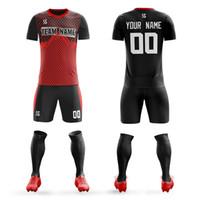 Профессиональный футбол равномерные спортивные 2019 мужских рубашки футбол Джерси шорты костюм спортивной одежды