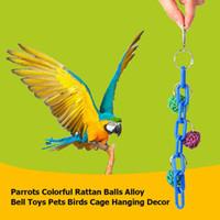 Pet Parrot Oyuncaklar Ücretsiz Nakliye 2020 Yeni Sıcak Kafes Kuş Parrot Oyuncak Salıncak Asma Alaşım Zincir