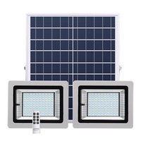 Outdoor Solar Lamps LED Floodlight 36 63 80 100 LEDs Double Head Waterproof IP65 Solar LED Flood Light With Remote Control In Stock