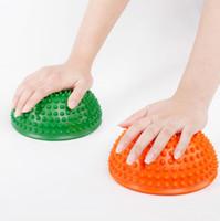 نقطة تمارين تدليك الكرة التوازن الصالة الرياضية تدريب نصف القنفذ الكرة تدليك القدم كرات دوريان منصات اليوغا الرياضية لوازم للياقة البدنية الجملة