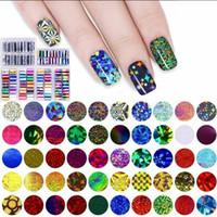El envío libre 25 estilos 10Pcs / caja de uñas holográfica de transferencia de película Sky Art SetStarry etiqueta de bricolaje