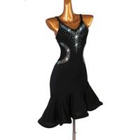 무대 착용 여성 라틴 댄스 드레스 레이디 가운 덴세 라틴 Femme LQ038 슬리브 개츠비