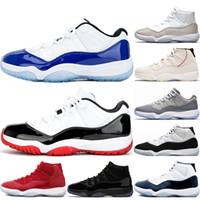 nike air retro retros jordan 11 11s 11 11S أحذية كونكورد 45 لكرة السلة للرجال ولدت اللثة البلاتين تينت الفضاء المربى رياضة البحرية الأحمر منتصف الليل البحرية الرياضة أحذية الرجال