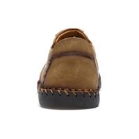 Classic Comfortable Men Casual Loafers Men Shoes Quality Split Leather Shoes Men Flats Hot Sale Moccasins Shoes Plus Size