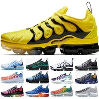 vapormax nike tn Designer Sneakers Hommes Femmes Rainbow Grape Photo Bleu Grape Tropical Coucher Du Soleil Blanchi Aqua Sport BUMBLEBEE Chaussures De Course Taille5-11