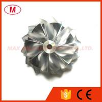 K04 49,62 / 61.98mm 7 + 7 lames haute performance Turbo roue de compresseur billettes / Aluminium 2618 / roue de fraisage pour cartouche / LCDP / Core