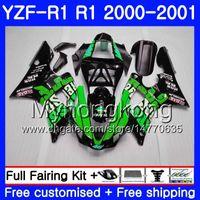 Corpo para YAMAHA YZF 1000 YZF R 1 YZF-1000 YZFR1 00 01 Quadro 236HM.47 YZF-R1 00 01 Carroçaria Repsol verde quente YZF1000 YZF R1 2000 2001 Carenagem