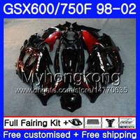 Body For SUZUKI KATANA GSXF 600 750 stock Red flames GSXF750 98 99 00 01 02 292HM.18 GSX 750F 600F GSXF600 1998 1999 2000 2001 2002 Fairing