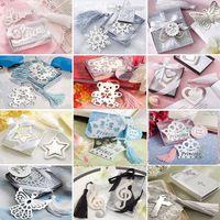 Metallo creativo Bookmarks con favore nappe di compleanno nozze regali del partito farfalla Orso Cuore forma di stella HHA1395