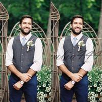 Laine Groom Gilets de élévage Robe de mariage Waistcoat Business Suit la conception Mode pour hommes Gilet Hommes Casual Groomsmen Attire