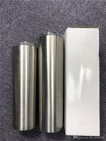 30 oz vaso flaco con tapas y pajitas 30 oz flaco taza doble pared aislamiento acero inoxidable taza recta entrega rápida