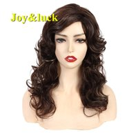 Joy&luck Long Culry Ombre Blonde Wig Synthetic Wigs African ...