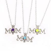 Nouvelle Maman Huile Essentielle Diffuseur Collier Ouvert Aromathérapie Médaillon Pendentif Mama colliers Pour femmes Fête Des Mères Bijoux Cadeau